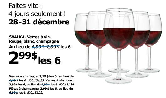ikea 4 jours seulement svalka verres vin 2 99 les 6