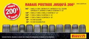 Pirelli coupon Rabais postal