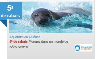 coupon aquarium de quebec