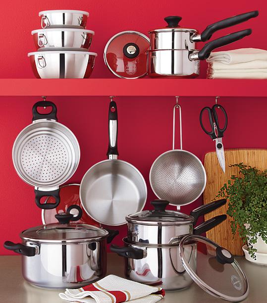 Sears 75 de rabais sur la batterie de cuisine lagostina - Batterie de cuisine lagostina ...