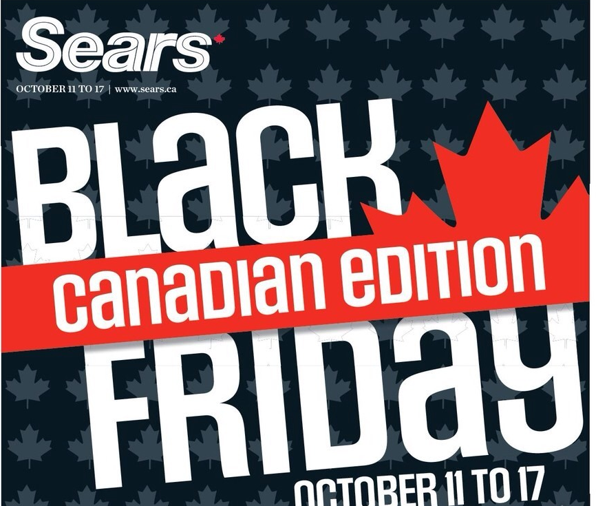 sears canada cahier publicitaire vendredi noir canadien du 11 au 17 octobre 2013 smart. Black Bedroom Furniture Sets. Home Design Ideas